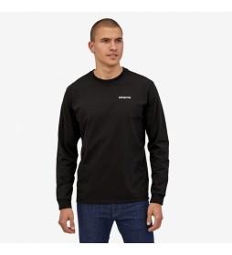 Camiseta Men's L/S P-6 Logo Responsibili-Tee negro
