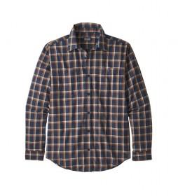 Patagonia Camicia M's L / S Pima Cotton blu scuro