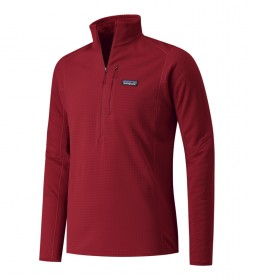 Jersey de Tejido Fleece R1 rojo / Polartec®/Power Grid®/bluesign®/