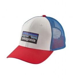 Patagonia Cap P-6 Logo Trucker blue, red