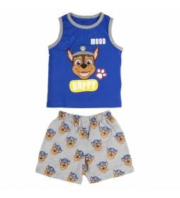 Pijama Corto Tirantes Single Jersey Patrulla Canina azul
