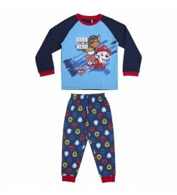 Pijama Paw Patrol Movie azul