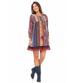 Vestido Estampado Étnico multicolor