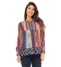 Blusa Estampado Étnico multicolor