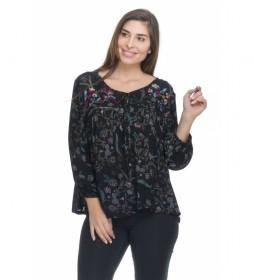 Blusa Estampada negro, floral
