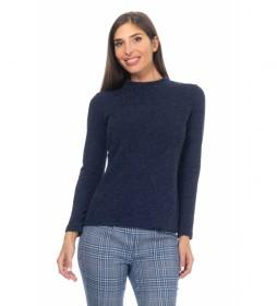 Blusa Lisa Punto azul