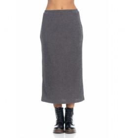 Falda lisa Knit gris