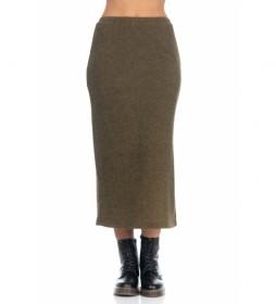 Falda lisa Knit verde