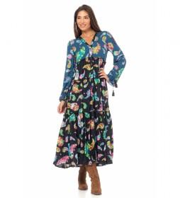 Vestido Estampado multicolor.