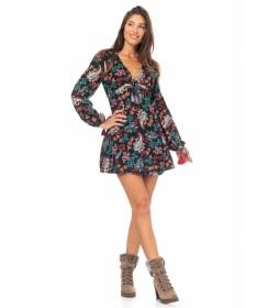 Vestido Corto Estampado multicolor