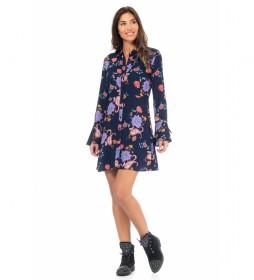 Vestido Estampado Floral marino, multicolor