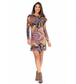 Vestido Estampado Punto multicolor