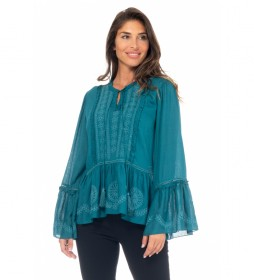 Blusa Bordada verde