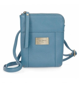 Bandolera de piel Pepe Jeans Lica azul -16.5x13x1.5cm-