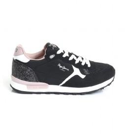 Zapatillas Britt negro, rosa