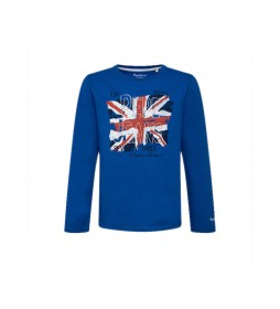 Camiseta bandera y logo Jude azul