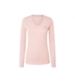 Camiseta Bleu rosa