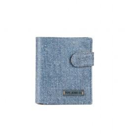 Cartera Pepe Jeans Jeans vertical con cierre de clic Azul
