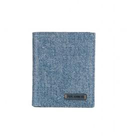 Cartera Pepe Jeans de piel vertical con monedero Marrón -8,5x11,5x1cm-