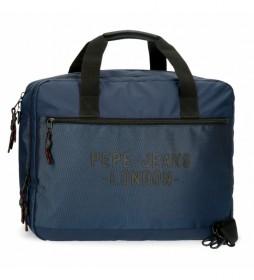 Carterón Portaordenador Pepe Jeans Bromley azul -42x33x11cm-