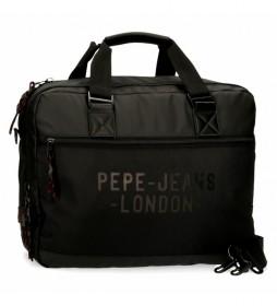Carterón Portaordenador Pepe Jeans Bromley negro -42x33x11cm-