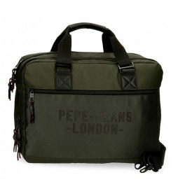 Carterón Portaordenador Pepe Jeans Bromley verde -42x33x11cm-