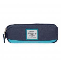 Estuche Pepe Jeans Molly azul -22x7x3cm-