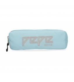 Estuche Pepe Jeans Uma azul celeste -22x7x3cm-