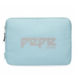 Funda para Tablet Pepe Jeans Uma azul celeste -30x22x2cm-
