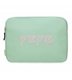 Funda para Tablet Pepe Jeans Uma verde -30x22x2cm-