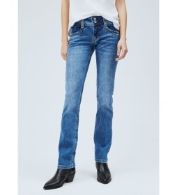 Jeans Gen Straight Fit Mid Waist azul