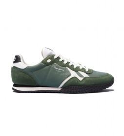 Zapatillas de piel Holland verde