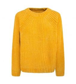 Jersey Chenilla Lisa amarillo