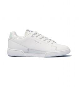 Zapatillas de piel Lambert Chic blanco