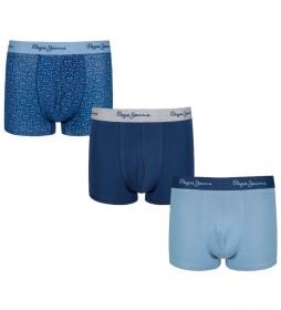 Pack de 3 Bóxers Colis azul