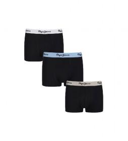 Pack de 3 Boxers Silas negro