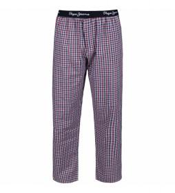 Pantalón pijama Linford rojo, azul