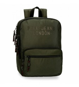 Mochila Pepe Jeans Bromley para portátil verde  -27x36x12cm-