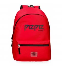 Mochila Pepe Jeans Osset Rojo -31x42x17,5cm-