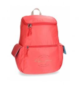 Mochila Pepe Jeans Yoga Roja adaptable a trolley -31x44x19cm-