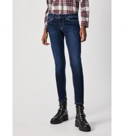 Jeans Pixie Skinny Fit Mid Waist azul