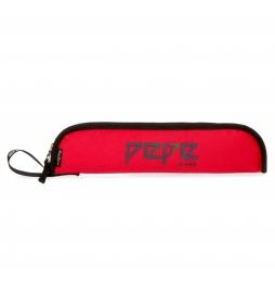 Porta Flauta Pepe Jeans Osset Roja -9x37x2cm-