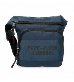 Riñonera Pepe Jeans Bromley Cuadrada azul -31.5x24x1.5cm-