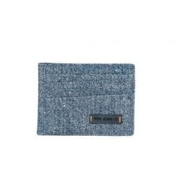 Tarjetero Pepe Jeans de piel Azul -9,5x7,5x0,5cm-