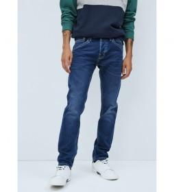 Jeans Track Regular Fit Regular Waist azul