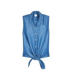 Camisa Vaquera Nudo Bay azul