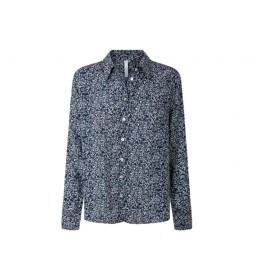 Camisa Carlo azul, multicolor