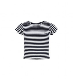 Camiseta Inma a rayas blanco, negro
