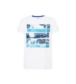 Camiseta Surf Kelly blanco, azul