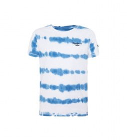 Camiseta Killian Tie Dye azul, blanco